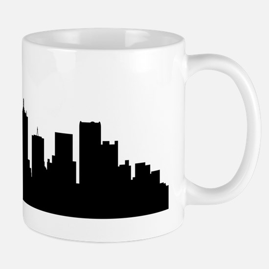 Dallas Cityscape Skyline Mugs