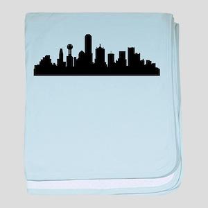 Dallas Cityscape Skyline baby blanket