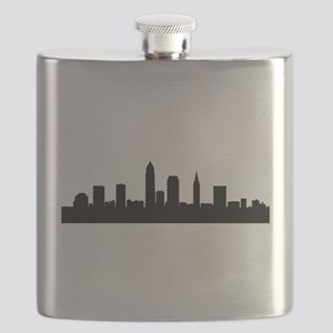 Cleveland Cityscape Skyline Flask