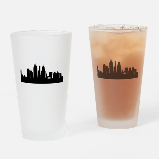Cincinnati Cityscape Skyline Drinking Glass