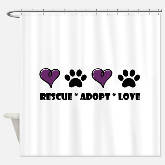 Cool Animal rescue Shower Curtain