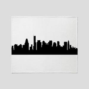 Boston Cityscape Skyline Throw Blanket