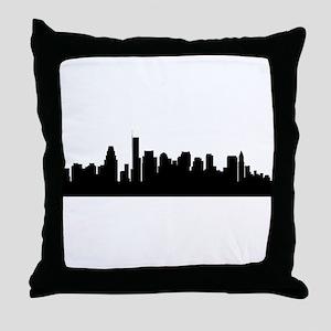 Boston Cityscape Skyline Throw Pillow