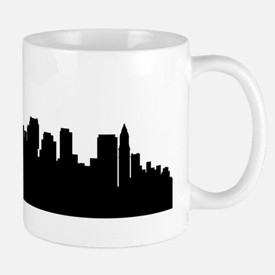 Boston Cityscape Skyline Mugs