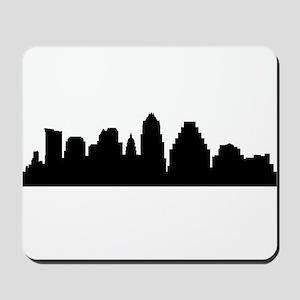Austin Cityscape Skyline Mousepad