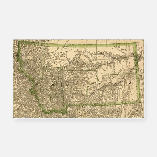 Cool Montana Rectangle Car Magnet