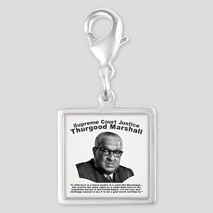 Thurgood Marshall: Equality Silver Square Charm
