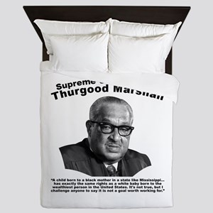 Thurgood Marshall: Equality Queen Duvet