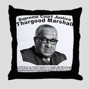 Thurgood Marshall: Equality Throw Pillow