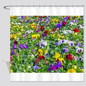 More Pansies Shower Curtain
