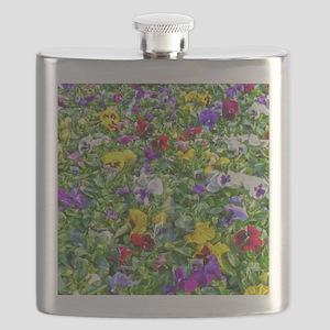 More Pansies Flask