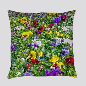 More Pansies Everyday Pillow