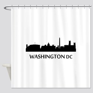 Washington DC Cityscape Skyline Shower Curtain