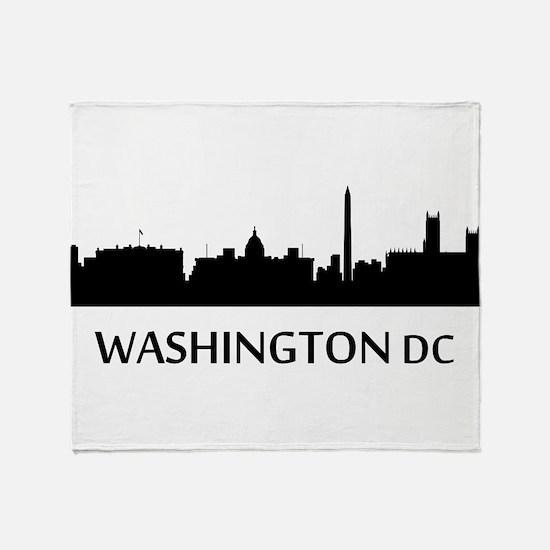 Washington DC Cityscape Skyline Throw Blanket