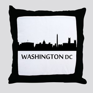 Washington DC Cityscape Skyline Throw Pillow