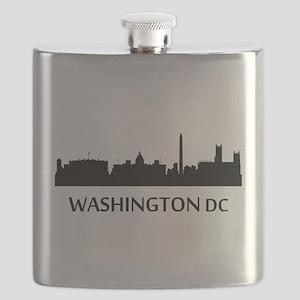 Washington DC Cityscape Skyline Flask