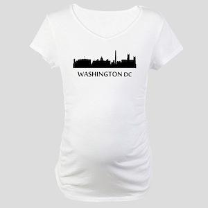 Washington DC Cityscape Skyline Maternity T-Shirt
