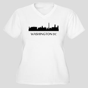 Washington DC Cityscape Skyline Plus Size T-Shirt