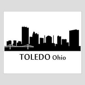 Toledo Cityscape Skyline Posters