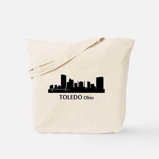 Toledo Cityscape Skyline Tote Bag