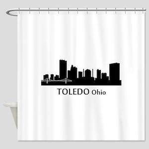 Toledo Cityscape Skyline Shower Curtain