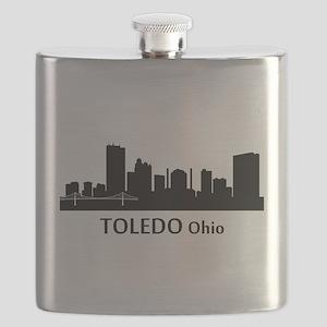 Toledo Cityscape Skyline Flask