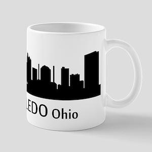 Toledo Cityscape Skyline Mugs