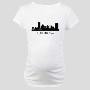 Toledo Cityscape Skyline Maternity T-Shirt