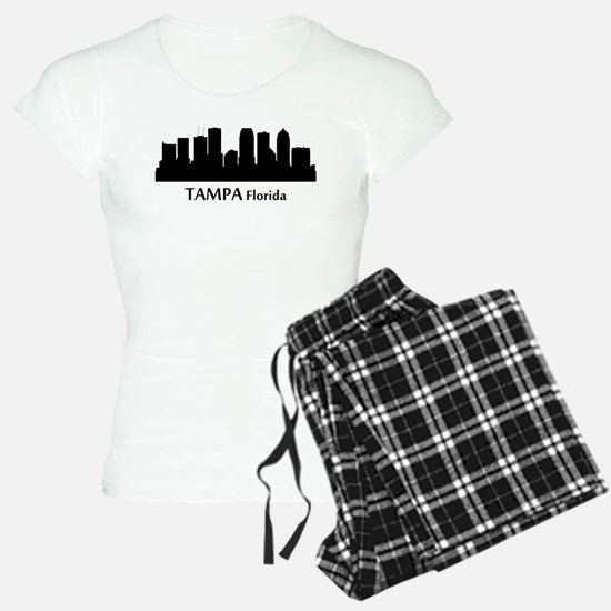 Tampa Cityscape Skyline Pajamas
