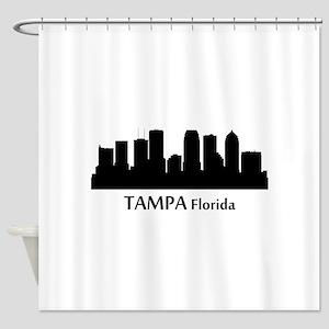 Tampa Cityscape Skyline Shower Curtain