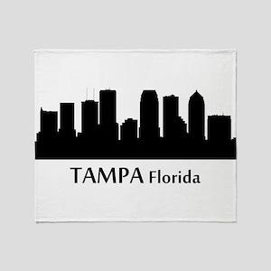Tampa Cityscape Skyline Throw Blanket