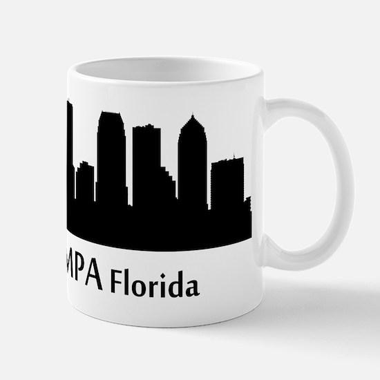Tampa Cityscape Skyline Mugs