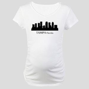 Tampa Cityscape Skyline Maternity T-Shirt