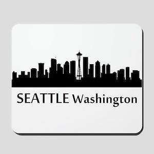 Seattle Cityscape Skyline Mousepad