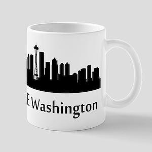 Seattle Cityscape Skyline Mugs