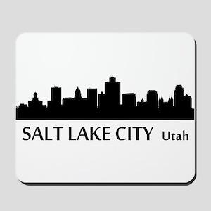 Salt Lake City Cityscape Skyline Mousepad