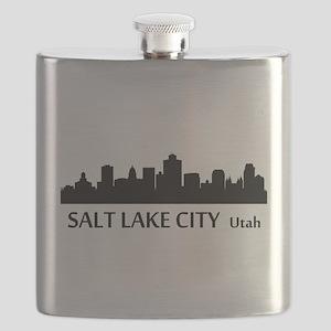 Salt Lake City Cityscape Skyline Flask