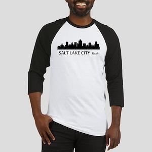 Salt Lake City Cityscape Skyline Baseball Jersey