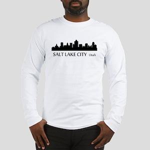 Salt Lake City Cityscape Skyline Long Sleeve T-Shi