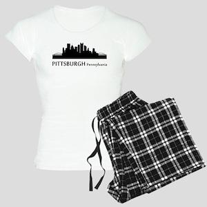 Pittsburgh Cityscape Skyline Pajamas