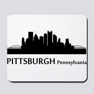 Pittsburgh Cityscape Skyline Mousepad