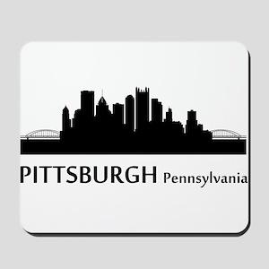Pittsburgh Cityscape Skyline Mousepad