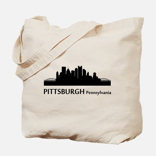 Pittsburgh Cityscape Skyline Tote Bag