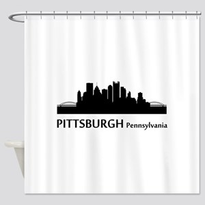 Pittsburgh Cityscape Skyline Shower Curtain