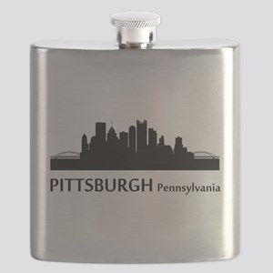 Pittsburgh Cityscape Skyline Flask