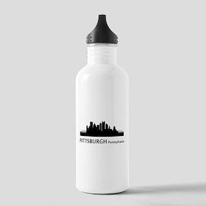 Pittsburgh Cityscape Skyline Water Bottle