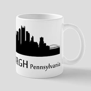 Pittsburgh Cityscape Skyline Mugs