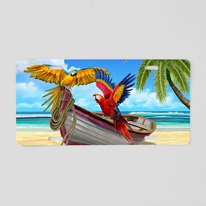 Parrots of the Caribbean Aluminum License Plate