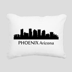 Phoenix Cityscape Skyline Rectangular Canvas Pillo