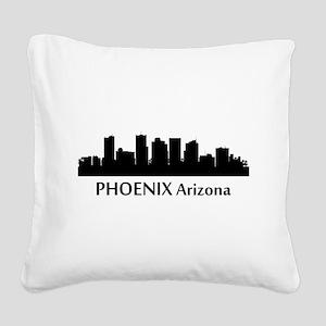 Phoenix Cityscape Skyline Square Canvas Pillow